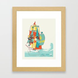 jack johnson- to the sea Framed Art Print