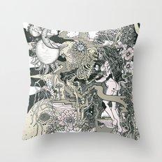 Little Bit Evil Throw Pillow