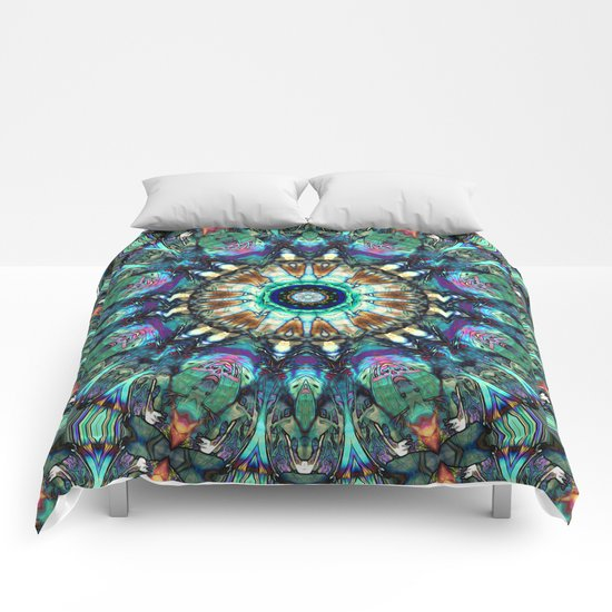 Stained Glass Abstract Comforters