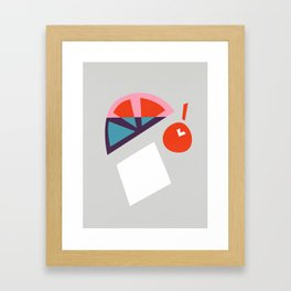Cherry Cocktail Framed Art Print