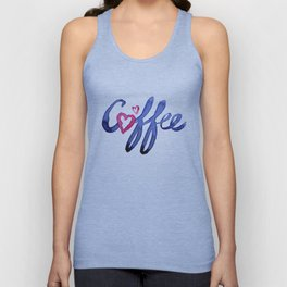 Coffee Lover Typography Unisex Tank Top