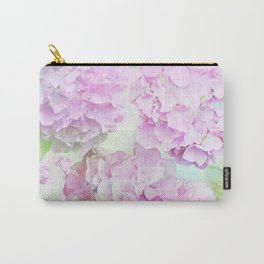Painterly Hydrangea flowers on a pastel background Carry-All Pouch