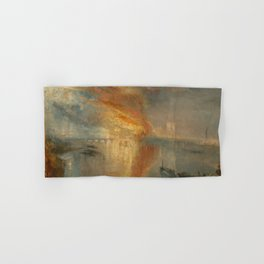The Burning of the Houses of Lords and Commons, 16 October 1834- Joseph Mallord WIlliam Turner Hand & Bath Towel