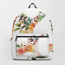 Floral Puppy Paw Outline  Backpack