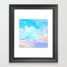 beautiful sky Framed Art Print