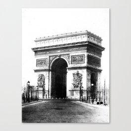 Arc de Triomphe de l'Etoile à Paris 1865 Canvas Print