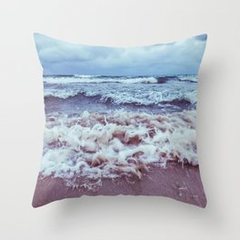 Scrambled sea Throw Pillow
