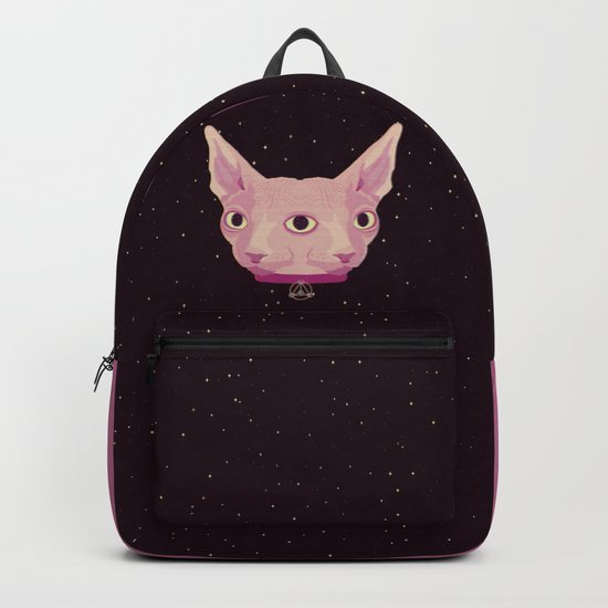 Two-Faced Sphynx From Outer Space Backpack