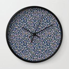 Garden Ditzy - Purple Wall Clock