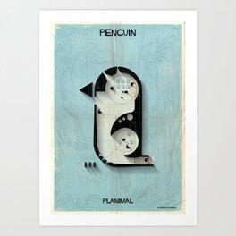 025_PLANIMAL_Penguin Art Print