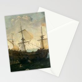 Vintage Pacific Ocean Coastal Sail Stationery Cards