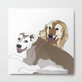 Family Dog Pack Metal Print