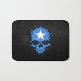 Flag of Somalia on a Chaotic Splatter Skull Bath Mat