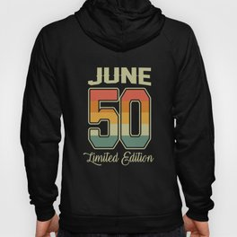 Vintage 70th Birthday June 1950 Sports Gift Hoody