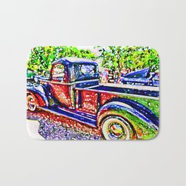 An Old Pickup Truck 3 Bath Mat