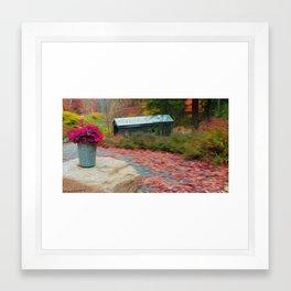 Autumn Bridge Framed Art Print