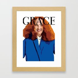 GRACED THE COVER Framed Art Print