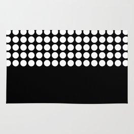 Black and white polka dot .2 Rug