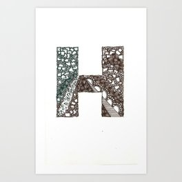 H stands for ...? Art Print