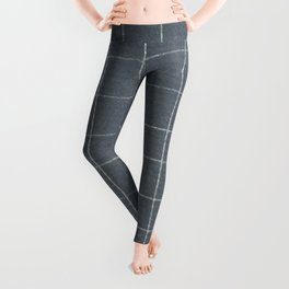 Silver grid Leggings