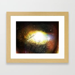 Eye Wide Opened Framed Art Print