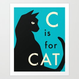 C is for CAT (2) Art Print