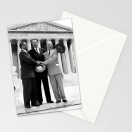 Thurgood Marshal on the steps of the Supreme Court  Stationery Cards