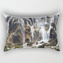 Pearl Shoal Waterwall // Jiuzhaigou Valley Rectangular Pillow