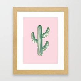 Lonely Cactus Framed Art Print