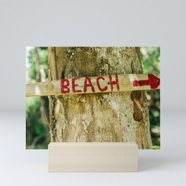Beach This Way Mini Art Print