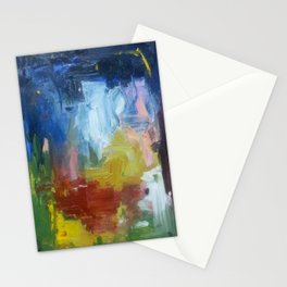 spring night fire Stationery Cards