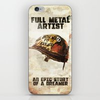 full metal alchemist iPhone & iPod Skins featuring Full metal artist by HappyMelvin