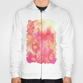 Water colors 3 - Pink and yellow corals Hoody