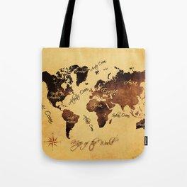 world map 75 Tote Bag