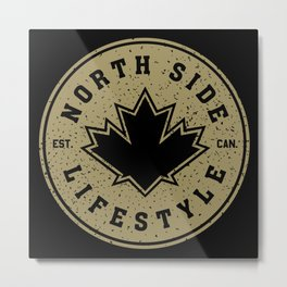 North Side Lifestyle (gold) Metal Print