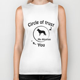 Circle of trust my Alsatian. Biker Tank
