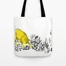 yellow dog Tote Bag