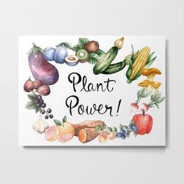 Plant Power Metal Print
