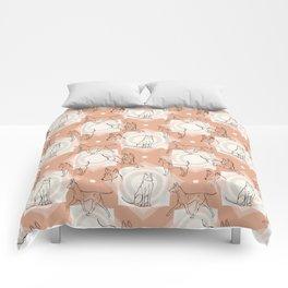 Thai Ridgeback Pattern in Light Terracotta Comforters
