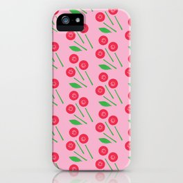 Broken bouquet raspberry & pink iPhone Case