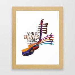 AFRO BEATZ Framed Art Print