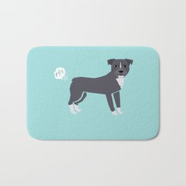 pitbull farting dog cute funny dog gifts pure breed dogs Bath Mat