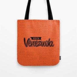 Venezuela - Lettering Design with orange background Tote Bag