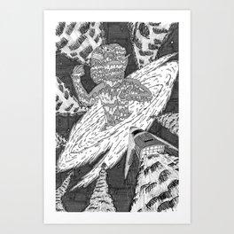 Birth of a Space God Art Print