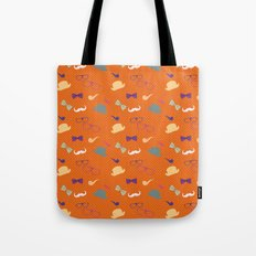 Hipster Pattern Tote Bag