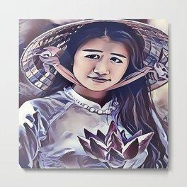 Cambodian Lotus Metal Print