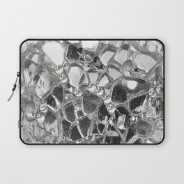 Silver Mirrored Mosaic Laptop Sleeve