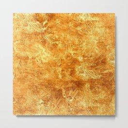 Butterscotch Oil Painting Color Accent Metal Print