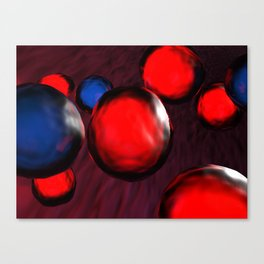 Blue and red cells flowing in the vein - 3D rendering Canvas Print