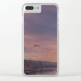 Sunset over Lake Wakatipu Clear iPhone Case